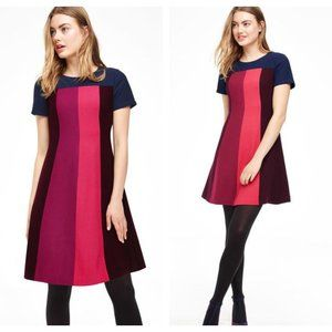 Boden Color Block Panel Patsy Wool Dress WH927 8L
